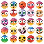 Different emoji faces — Stock Vector