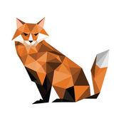Origami fox — Stock Vector