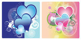 Hearts Backgrounds — Stockvektor