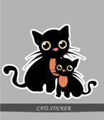 Two Cats — Stock Vector