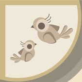 Brown birds — Stock Vector