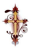 金十字架 — 图库矢量图片
