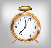 Golden clock — Stock Vector