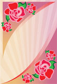 Background with roses — Stock Vector
