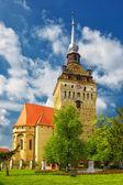 Saschiz ufortyfikowany kościół — Zdjęcie stockowe