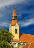 Bunesti Fortified Church Belfry — Stock Photo