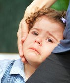 Upset baby girl — Stock Photo
