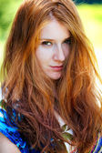 Red head portrait outdoor — Stock Photo