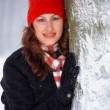 Young woman outdoor in winter — Stock Photo