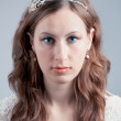 Portrait of young bride — Stock Photo