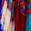 Stock Photo: Colorful scarfs for sale
