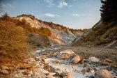 Salty hills at Lopatari — Stock Photo