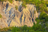 Salty hills in Buzau county — Stock Photo