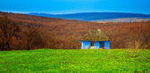 Blue old cottage — Stock Photo