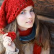 Girl with red hat — Stock Photo #7800740