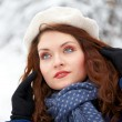 Beautiful young woman outdoor in winter — Stock Photo #9057290