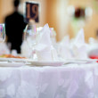 Stock Photo: Served banquet table