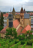 View on Wuerzburg from Marienberg fortress, Germany — Stock Photo