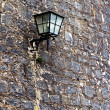 Stone wall and lamp. Wurzburg — Stock Photo