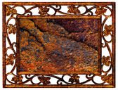 Frame of iron grunge — Photo