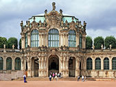The Zwinger (Der Dresdner Zwinger) is a palace in Dresden — Stock Photo