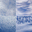 Four picture of sky — Stockfoto