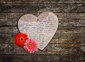 Rocznika kartkę z życzeniami z kwiatami — Zdjęcie stockowe