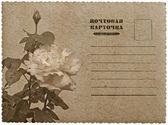 Gratulationskort med rose. ryska språket — Stockfoto