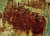 Fragment of Rusty wall — Stock Photo