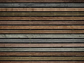 Wall of wooden slats color — Stock Photo