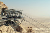 Rope way to Masada — Stock Photo