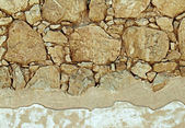 The wall in the fortress of Masada — Stock Photo