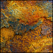 Square background of rust — Stock Photo