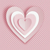 Greeting card for Valentines day. Applique. — Stock Photo