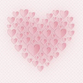 Greeting card for Valentines day. Applique. — Stockfoto