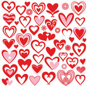 Collection heart vector — Stock Photo