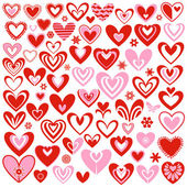 Collection of hearts — Stockvector