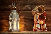 Lanterna de natal. — Foto Stock