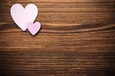 Wood hearts. — Stock Photo