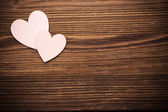 Wood hearts. — Stock Photo