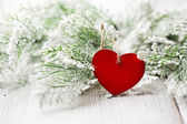 Christmas heart. — Stock Photo