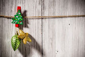 Christmas peg. — Zdjęcie stockowe