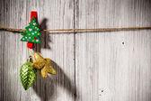 Christmas peg. — Foto de Stock