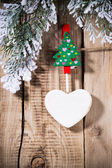 Christmas peg. — Stok fotoğraf