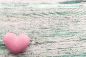 Corazón de color rosa. — Foto de Stock