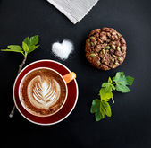 Coffee and cookie still life — Stockfoto