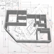 Stock Photo: 3d plan drawing