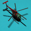 Helicopter isolated — Stock fotografie