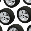 Wheels isolated on white. 3d illustration. — Stock Photo