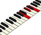 Piano keys closeup monochrome — Stock Photo